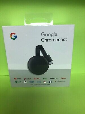 Google Chromecast (3rd Generation) - Charcoal NEW SEALED