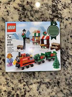 LEGO 40262 Holiday Christmas Train Ride. Town Square. New, Sealed Box 169 Pieces