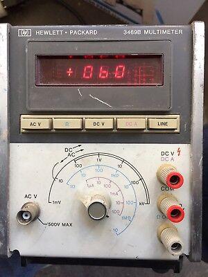 Hp 3469b Multimeter Powers Up Complete