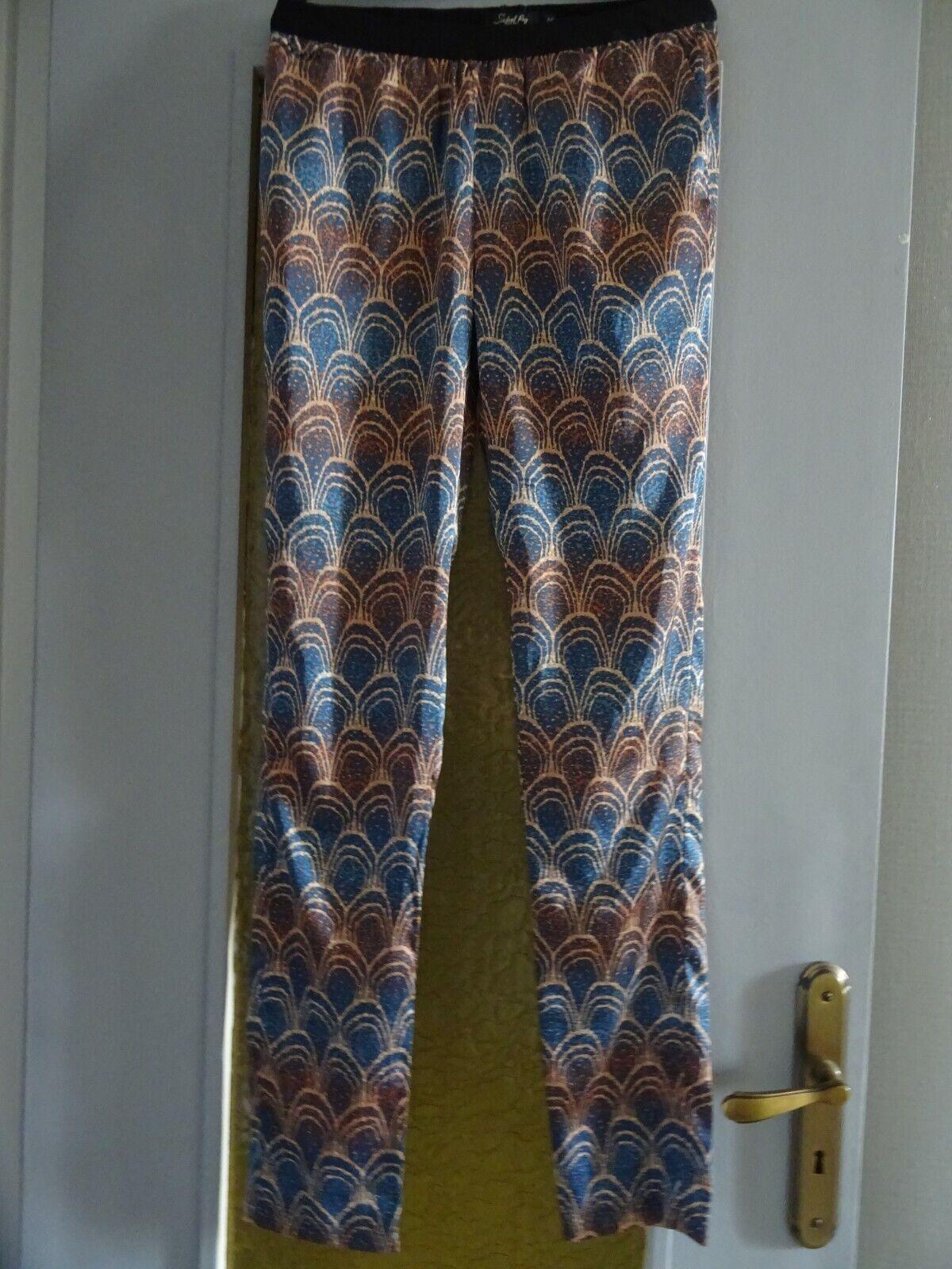 Pantalon fluide imprimé school rag taille :36
