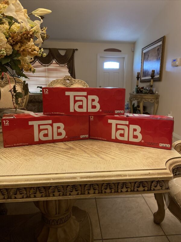 Tab Soda (3) 12 Packs New Unopened Discontinued SOLD OUT HOT🔥📈FREE SHIPPING!!!