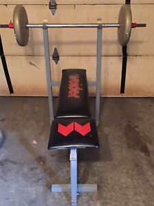 Weight bench and 300lbs weights