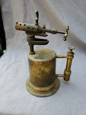 VINTAGE ANTIQUE COLLECTABLE BRASS BLOW TORCH CLAYTON AND LAMBERT CO.