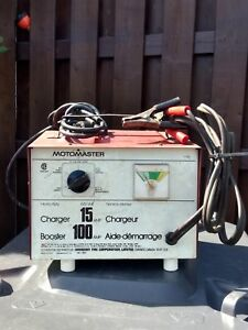 MotoMaster :Chargeur 15 amp. / Booster 100amp.