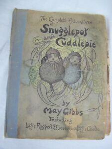 SNUGGLEPOT CUDDLEPIE MAY GIBBS LITTLE RAGGED BLOSSOM OBELIA 1950 VINTAGE BOOK