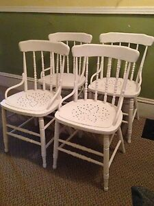 Set Of 4 Sturdy Antique Chairs