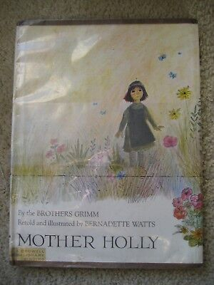 Mother Holly Brothers Grimm Tale Full Number Line Wonderful Illust 1972 Hc Dj