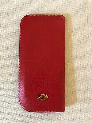 VTG Authentic GUCCI sun eye glasses soft case pouch holder pebbles leather