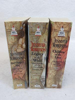 Lot of 3 Jennifer Roberson CHRONICLES OF THE CHEYSULI Daw Books Inc. 2001
