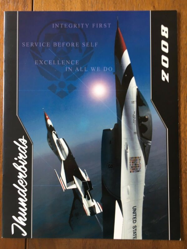 2008 USAF Thunderbirds Airshow Team Program