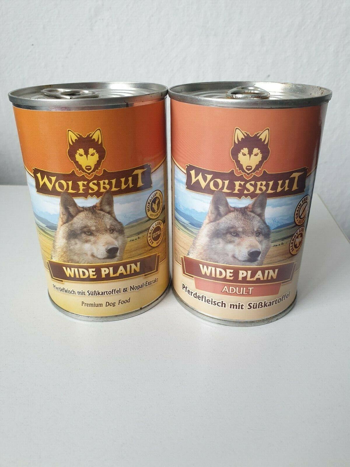 Wolfsblut 24 Dosen je 395g Pferd mit Süsskartoffel
