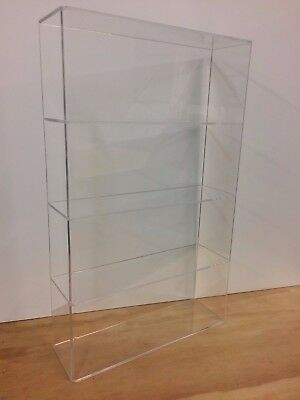 Acrylic Lucite Countertop Display Case Showcase Box Cabinet 14w X 4 14 X 23h