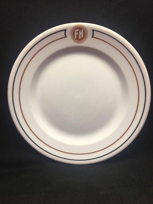 "Fred Harvey Railroad Train Station Restaurant 9-1/8"" Albert Pick Co China Plate"