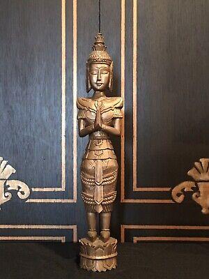 Carved Wood Indonesian Buddha