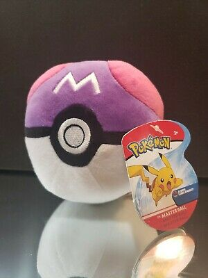 "New 5.5"" Pokemon Poke'ball Master Ball Plush Toy Doll Stuffed Animal Nintendo"