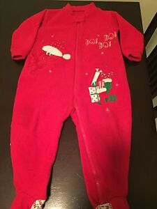 Christmas Sleep suits and bibs, hat & slippers Edmonton Edmonton Area image 1