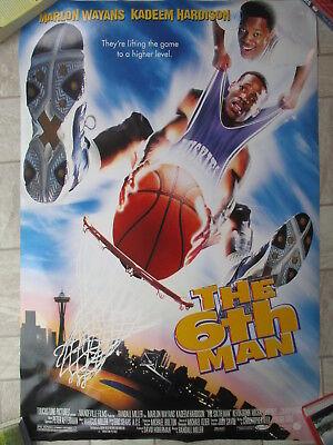 THE 6TH MAN Movie Poster 27x40 DOUBLE-SIDED MARLON WAYLANS KADEEM HARDISON