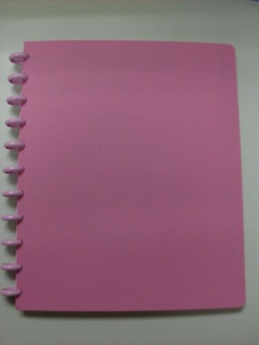 Arc Rollabind Pink Plastic 8.5 X 11 Notebook With Pink Jelly Discs