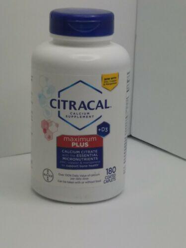 maximum plus with vitamin d3 calcium 180ct