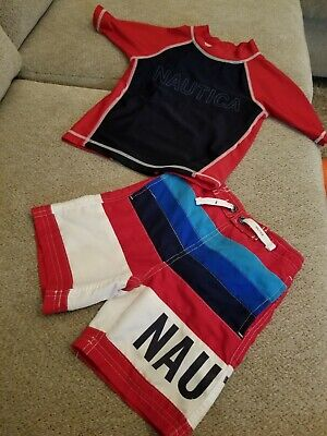 NAUTICA Toddler Boy 2T Swim trunks and top