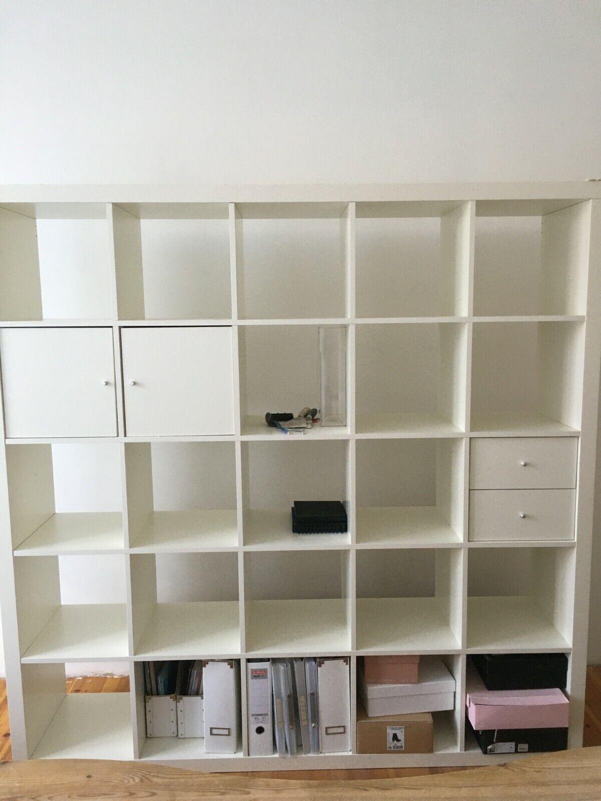 Ikea Kallax Regal 5x5 20 Facher Weiss 182x182 Cm