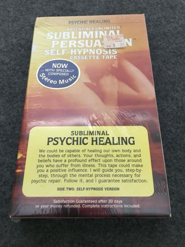 Potentials Unlimited Subliminal Self Hypnosis Cassette Psychic Healing BRAND NEW