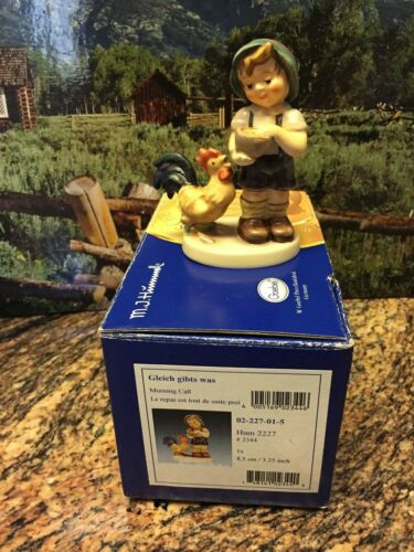GOEBEL HUMMEL:  MORNING CALL #2344 HUM #2227 WITH ORIGINAL BOX-MINT!