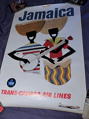 Vintage Trans Canada Air Lines Poster   Jamaica   Paul Louch Artist