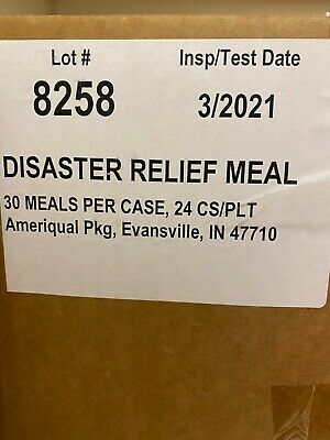 Ameriqual Disaster Relief Heater Meals, Free Shipping 03/2021 MRE 14 Meals APACK