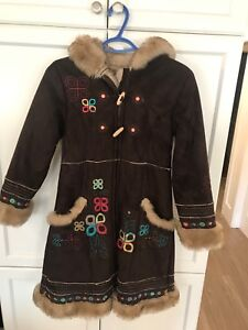 Girls Size 10 Winter Long Coat