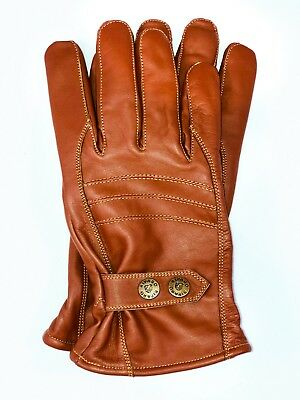 Riparo Men's Genuine Leather Winter Insulated Gloves with Fleece Lining (Mens Insulated Leather)