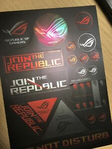 Asus republic of gamers stickers