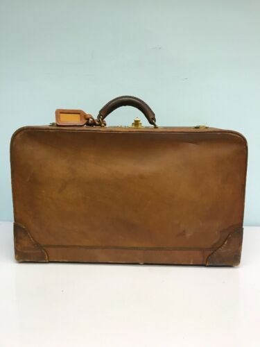 Vintage Leather Air Wings Suitcase Luggage Bag Working Combo Lock - $34.99