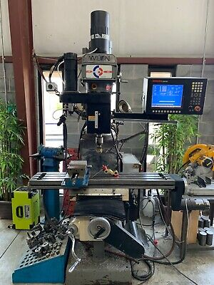 Wilton Jet Cnc Knee Mill -see Video- 1 Or 3 Phase Power Bridgeport Hass Hurco