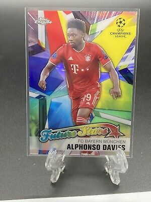 2020-21 Topps Chrome UCL FUTURE STARS Alphonso Davies Bayern Munchen Star