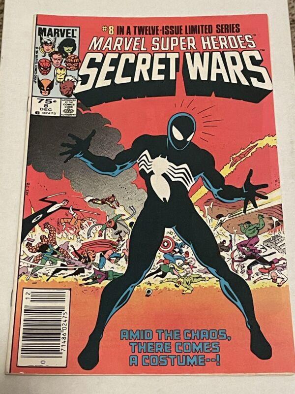 Marvel Super Heroes Secret Wars 8 Newsstand 1st Appearance Black Spider-Man Suit