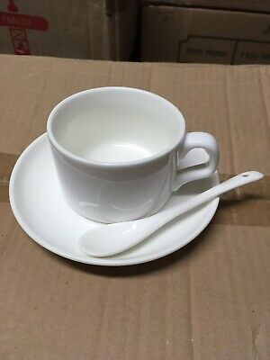 Blank Sublimation Coffee Mug Setmugplate Spoon. 36 Units Heat Press Transfer