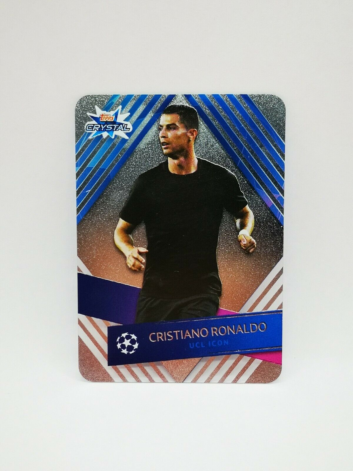Carte card topps crystal 2019-20 champions league ucl icon #121 ronaldo