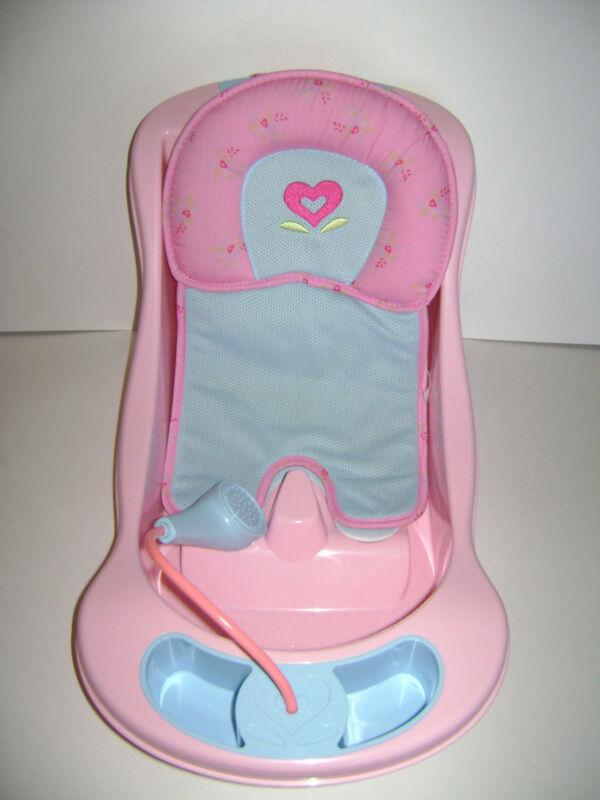 American Girl Bitty Baby Twins Doll Bathtub Bath Tub Seat Pink Blue