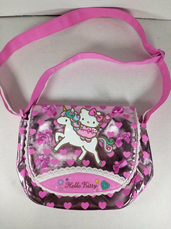 Sanrio HELLO KITTY Unicorn Collection Pink Metallic Embellished Crossbody Bag