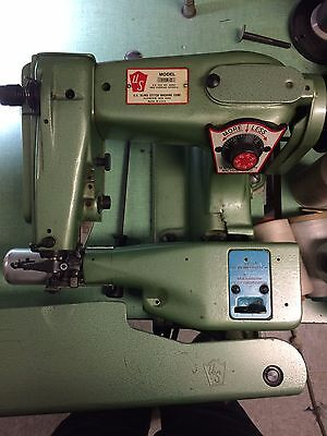U.s. Blindstitch Model 1118-2 Industrial Sewing Machine Wfull Motor Table