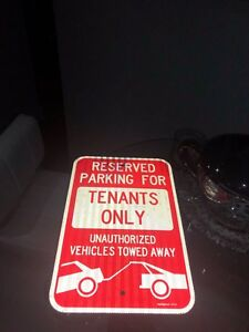 Tenants Only Sign, Large 12 x 18""