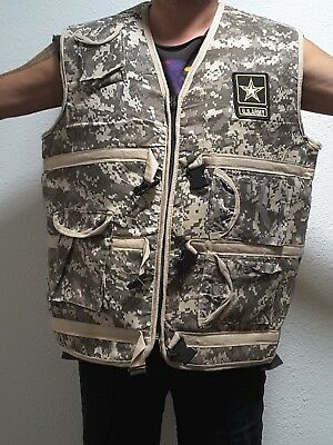 Costume Mens camouflage US ARMY VEST SUPERB QUALITY COSTUME BIG SIZE 48 CHEST !!](Army Costume Mens)
