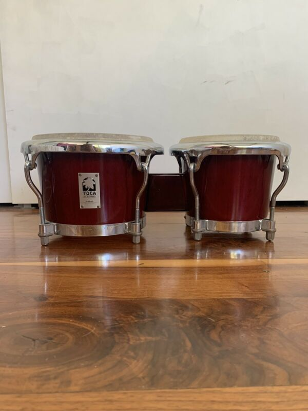 """Toca Kaman Bongos 8"""" by 7 1/2"""" Limited Edition Used, Great Condition!"""