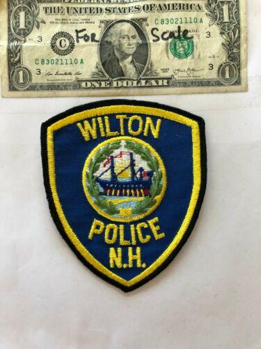Very Rare Wilton New Hampshire Police Patch un-sewn in mint shape