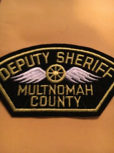 Deputy Sheriff Multnomah County Oregon Police Patch