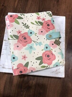 Carpe Diem Planner A5 6 Ring Binder Cream Blossom Large Planner Floral