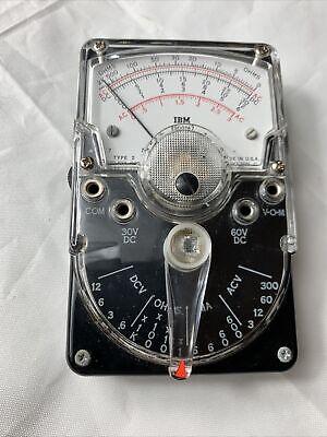 Excellent Vintage Ibm 9900167 Triplett Model 310 Handheld Analog Volt Ohm Meter