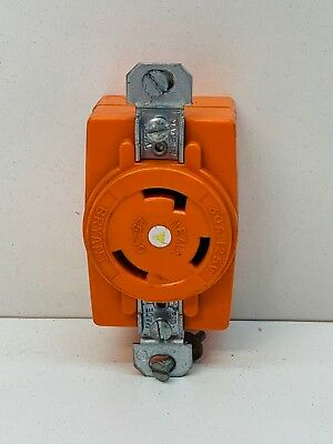 Bryant 70630ig Isolated Ground Twist-lock Receptacle 30a 125v 2p L5-30r