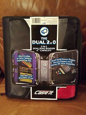 Case It Zipper Binder The Dual 2.0 3 Ring 4 Pockets Pick 1 Only